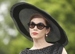 очки, шляпа, лицо, Anna Friel