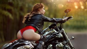 мотоциклы, девушка, мото