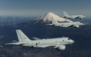 военный, вмс японии, патрульный самолет, jmsdf