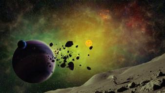 галактики, звезды, вселенная, планета