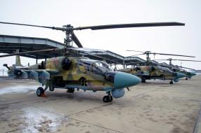 вертолёты, аэродром, вертушки, КА- 52, боевые