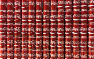 кока - кола, банки, цвет, фон