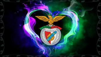 логотип, фон, Benfica