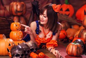 азиатка, девушка, персонаж, косплей