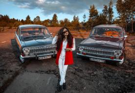 автомобили, Волга, ГАЗ- 24, модель, девушка