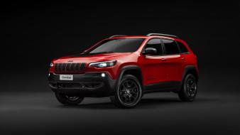 2019 jeep cherokee trailhawk, красный, кроссовер, джип
