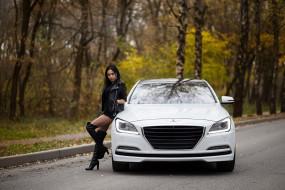 авто, девушка