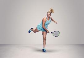 CoCo Vandeweghe, теннис, ракетка, фон, взгляд, девушка
