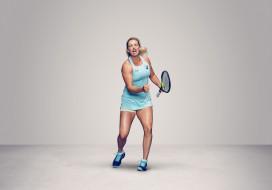 девушка, взгляд, фон, ракетка, теннис, CoCo Vandeweghe