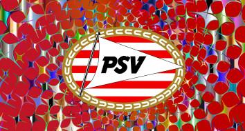логотип, PSV Eindhoven, фон