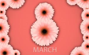 весна, розовый, хризантемы, счастливый женский день, фон, 8 марта