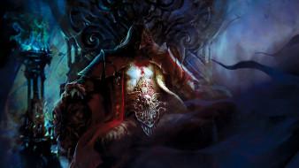 лорд, трон, кровь, вампир