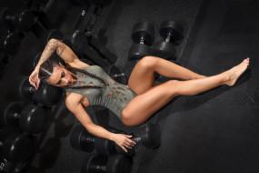 aurelie sibileau, спорт, body building, спортзал, купальник, фитнес, aurelie, sibileau, гантели