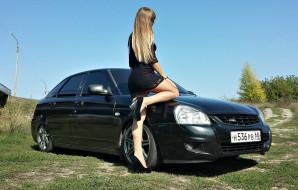 девушка, авто