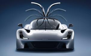Dallara Stradale, серебристый, двери