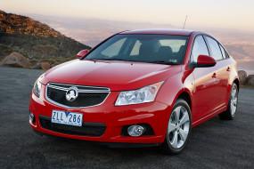 красный, автомобиль, Cruze, Holden