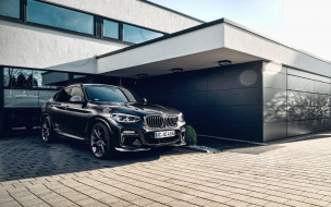 черный, бмв, кроссовер, немецкие автомобили, здание