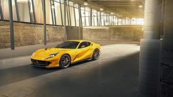 желтый, феррари, купе, 2019 novitec ferrari 812 superfast, тюнинг