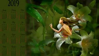 капля, роса, цветы, девушка