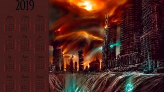 апокалипсис, катастрофа, небоскреб, здание