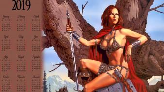 оружие, девушка, дерево, воительница