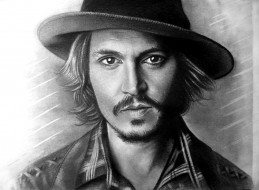 мужчина, взгляд, фон, шляпа