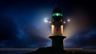 маяк, ночь