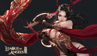 ткань, девушка, мечи, рога
