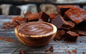 паста, куски, шоколад