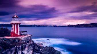 маяк, море