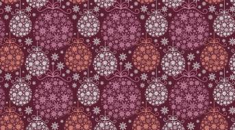 праздник, новый год, арт, украшение, снежинка, новогодние шары