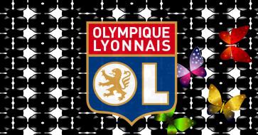 логотип, фон, Olympique Lyonnais