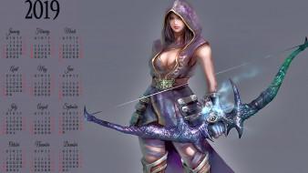 воительница, девушка, оружие