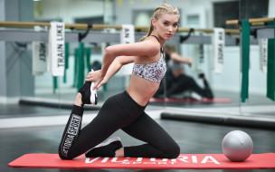 поза, взгляд, фитнес, фигура, модель, блондинка