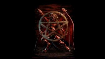 рога, крылья, демон