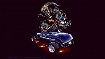автомобиль, машина, дракон