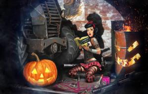 тыква, хэллоуин, Crossout, ситуация, арт