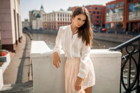 канал, набережная, город, disha shemetova, девушки, модель