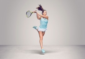 теннис, церковь, взгляд, девушка, Johanna Konta, ракетка, фон