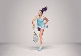 Johanna Konta, девушка, взгляд, церковь, теннис, ракетка, фон