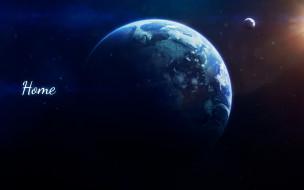 Дом, Земля, Свет, Космос, Луна, Планета