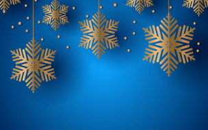 снежинки, текстура, фон, синий