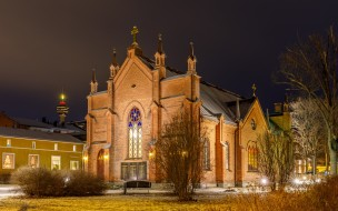 Tampere, Pirkanmaa, Finlayson church, Tampella, Тампере, Финляндия, церковь