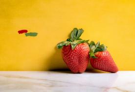 клубника, фон, ягоды