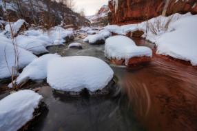 пейзаж, снег, лед, зима, снег, природа, вода