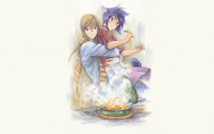 аниме, loveless, взрыв, соби, блюдо, кухня, аояги, рицка, агатсума