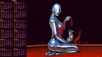 стакан, робот
