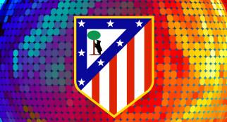 логотип, фон, Atlеtico Madrid
