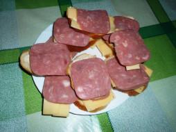 еда, бутерброды, хлеб, колбаса, сыр