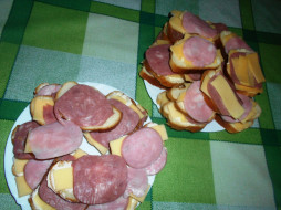 сыр, еда, бутерброды, колбаса, хлеб
